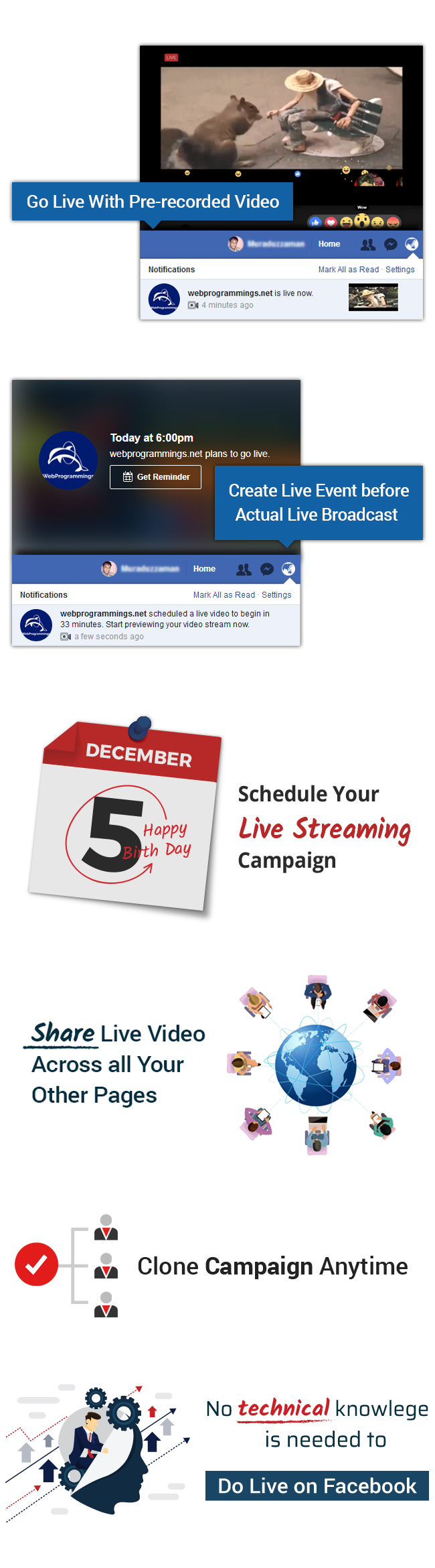VidCasterLive - A EZ Inboxer Add-on : Facebook Live Streaming With Pre-recorded Video - 9