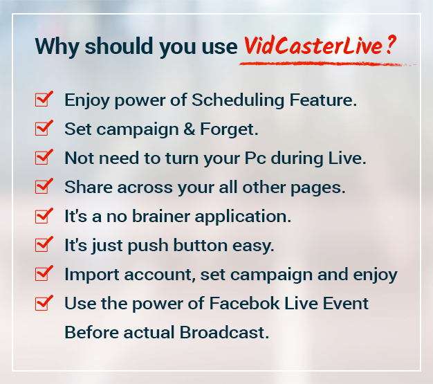 VidCasterLive - Facebook Live Streaming With Pre-recorded Video - 11