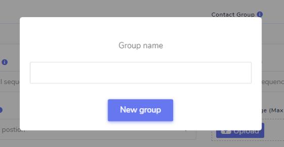 create group modal