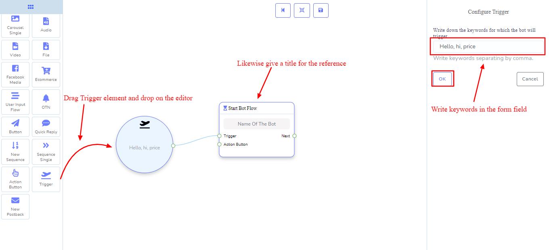 edit bot flow