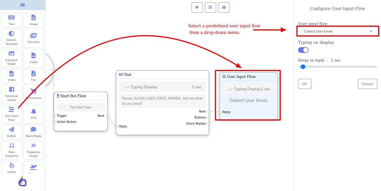 User input Flow