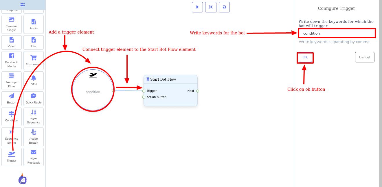 Trigger element