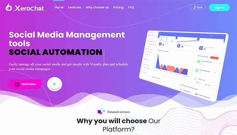 Clean and Modern style XeroAlpha Frontend theme for ChatPion