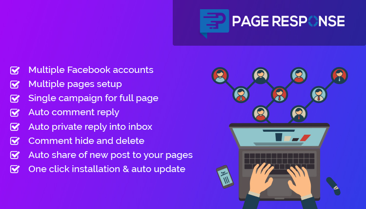 PageResponse - A FB Inboxer Add-on : Facebook Auto Comment/Private Reply & Like/Share for Full Page