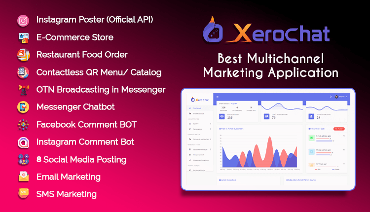 XeroChat - Complete Messenger Marketing Software for Facebook