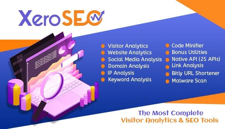 XeroSEO - Complete Visitor & SEO Analytics